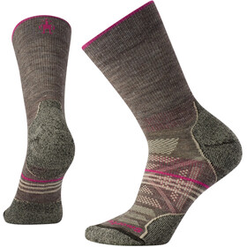 Smartwool PhD Outdoor Light Calcentines Crew Mujer, taupe